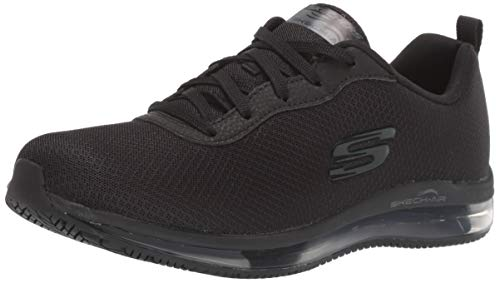 Skechers womens Skech-air Sr Health Care Professional Shoe, Black, 6.5 US