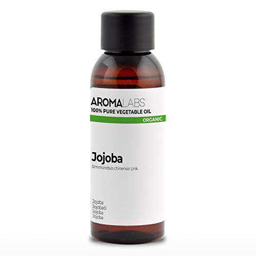100% BIO - Huile végétale de JOJOBA - 50mL - Garantie Pure, Naturelle, Certifiée Biologique, Pressée à froid - Aroma Labs (Marque Française)