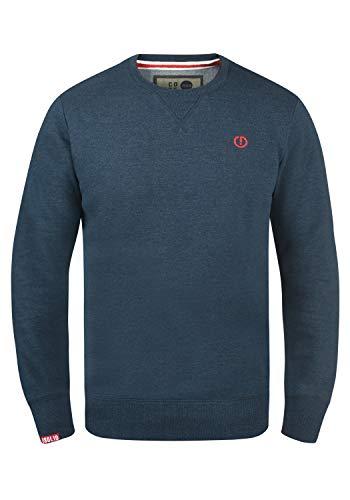 !Solid Benn O-Neck Herren Sweatshirt Pullover Pulli Mit Rundhalsausschnitt, Größe:L, Farbe:Insignia Blue Melange (8991)