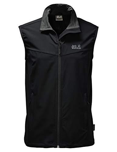 Jack Wolfskin Herren Herren Softshelljacke Activate Vest Jacke, black, XL, 1304451