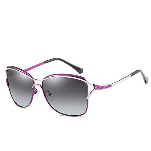 Gafas De Sol Polarizadas para Mujer Gafas De Sol De Montura Grande Gafas De Sol CláSicas De Moda Espejo De ConduccióN,D