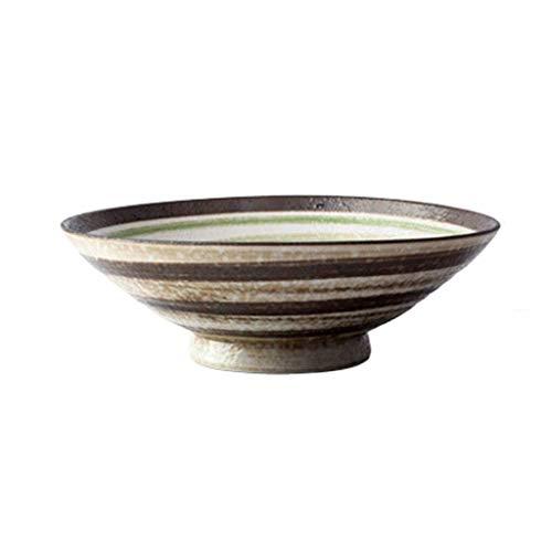 WSHFHDLC Cuenco de la Cultura Popular tazón de Sopa de Pasta Retro tazón de cerámica Japonesa hogar Creativo Cuenco de la Cultura Popular (Color : White)