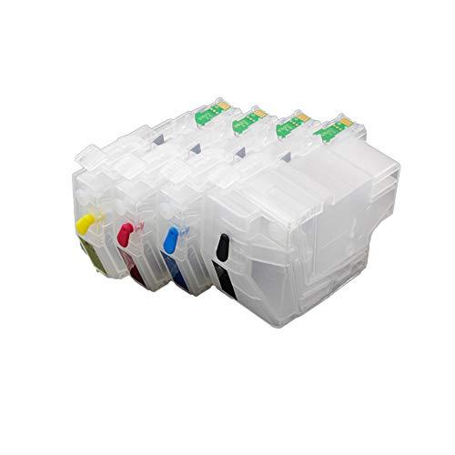 Karl Aiken - Cartucho de Tinta Recargable (4 Unidades, Compatible con Brother MFC-J5330DW, MFC-J5335DW, MFC-J5730DW, MFC-J5930DW, MFC-J6530DW, MFC-J6530DW, MFC-J6930DW, MFC-J6935D)