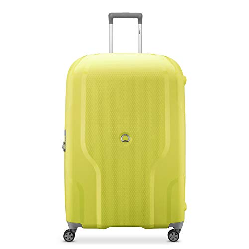 DELSEY Paris Clavel Hardside Expandable Luggage with Spinner Wheels, LEMON, Checked-Large 30 Inch