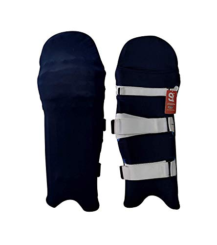 Skyhi Colored Cricket Batting Pads Covers - Leg Guards Clads - Leg Guard Skin (Navy Blue)