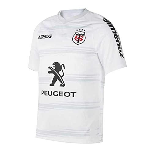 2021 Toulouse Home/Away Weltcup Rugby Jersey, Sommersport Atmungsaktiv Casual T-Shirt Football Hemd, Männer/Damen Outdoor Casual Training Shirt Away-XXL