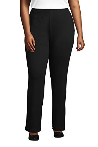 Lands' End Women s Sport Knit Pants Black Petite X-Large