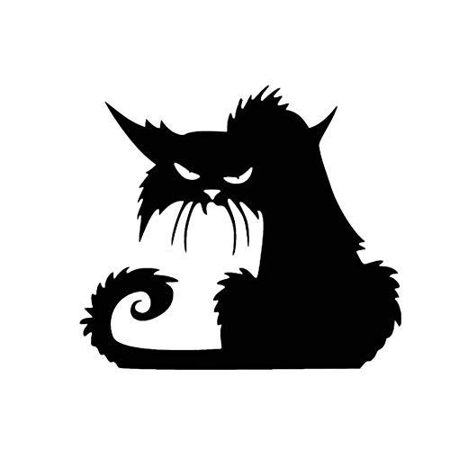Bigood Halloween Accessoire Chat Noir Autocollant Créatif Mural Fenêtre 13*11cm