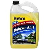 Prestone AS658 Deluxe 3-in-1 Windshield Washer Fluid, 1 Gallon