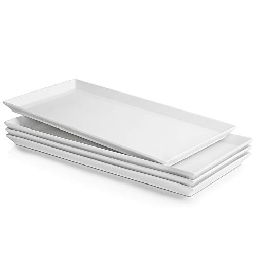 Sweese 703.101 White Serving Platters, Porcelain Serving Trays for Parties