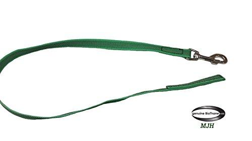 Angel for Pets MJH Schleppleine 20mm breit, 10m lang grün gummiert vernäht