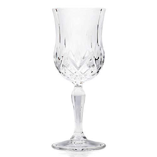 RCR - Laurus, ensemble de gobelets à vin, 6 pièces, Verre, Transparent