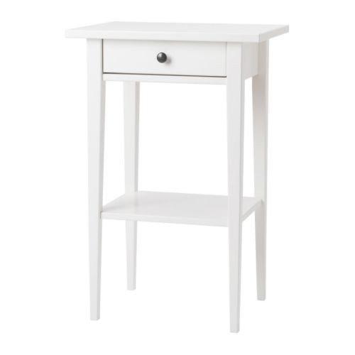 Ikea HEMNES Ablagetisch mit Schublade; in weiß; (46x35cm)