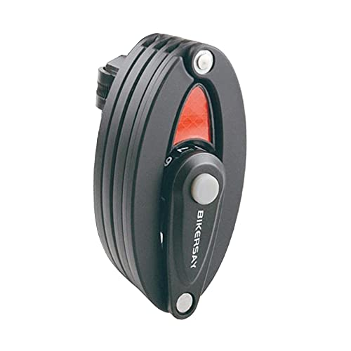 Milageto Candado Plegable para Bicicleta Candado con Contraseña de 4 Dígitos Bloqueos con Cable de 7 Articulaciones Candado