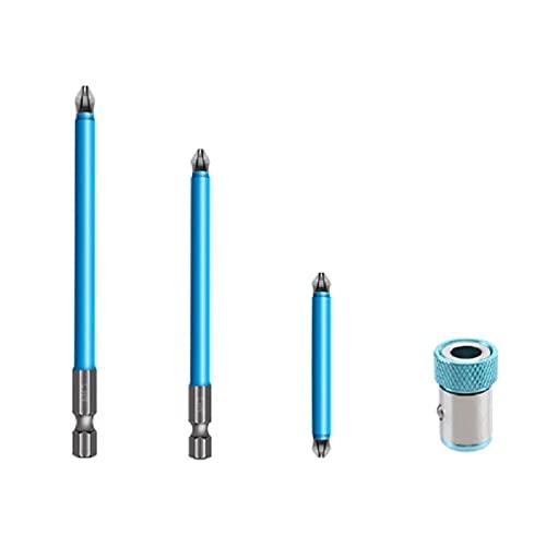 DONGMIAN Multiusos Fuerte S2 Aleación Acero Cruz Bit con Magnético Azul Conjunto Herramientas Antideslizante Destornillador Cabeza Durable bits encantos
