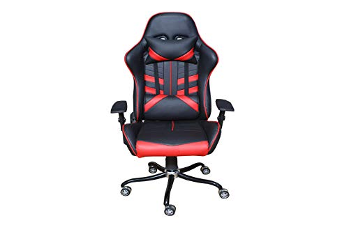 Atzei Esports AE-700X Gaming-Ergonomic Chair PU Leather, 2D Armrest, Butterfly Mechanism, 90°-180° [Black&Red]
