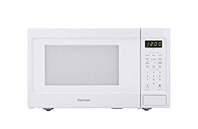 Kenmore White 70912 Countertop Microwave, 0.9 cu. ft