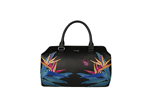 Lipault - Lady Plume Bowling Bag - Special Edition Medium Top Handle Shoulder Boston Handbag for Women - Psychotropical