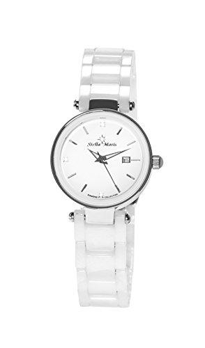 Stella Maris Damen Analog Quarz Uhr mit Keramik Armband STM17H1