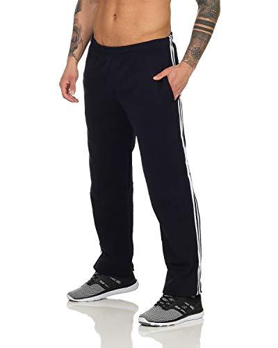 N&Y Herren Trainingshose Sporthose Freizeithose Jogginghose Sportswear mit offenem Beinabschluss Navy 2XL