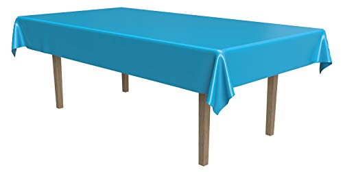 Masterpiece Plastic Rectangular Tablecover (turquoise) Party Accessory  (1 count) (1/Pkg)