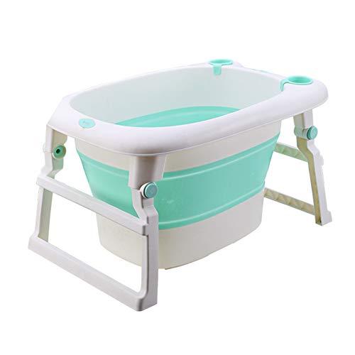 Tinas de baño para bebés Plegables, bebé Portátil Portátil COLLABLE COLLABLE AL TUDA Espacio Espacio DOPLEABLE - A Prueba de Deslizamiento Antideslizante - para bañarse recién Nacidos
