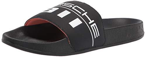PUMA Herren Porsche Graphic Leadcat FTR Schiebe-Sandalen, schwarz/weiß, 48.5 EU