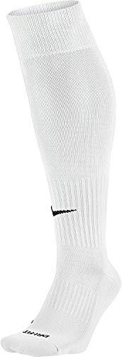 Nike Unisex Classic Dri-Fit- Smlx Fußballsocken Fußballsocken Knee High Classic Football Dri Fit, Varsity Rot / Weiß, Gr. 42-46