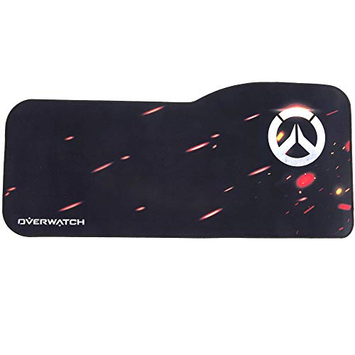Overwatch Gaming Mouse Pad Professional Curved Extended Size Large Computer Laptop Keyboard Desk Mat Waterproof Mousepad with Stitched Edges Anti Slip Rubber Base for Gamer School Office Home(OW-logo)