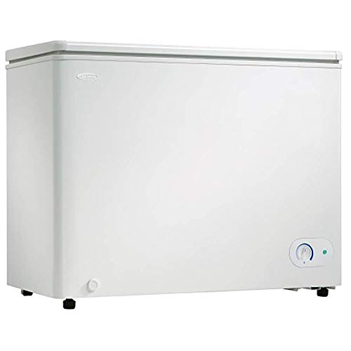 Danby DCF072A3WDB-6 7.2 Cu.Ft. Chest Freezer with 5 Year Warranty, Garage Ready Deep Freeze with Basket, Perfect for Dorm, Kitchen, Basement, in White
