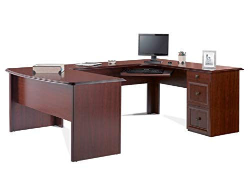 Realspace Broadstreet Executive U-shaped Office Desk - Hutch sold separately