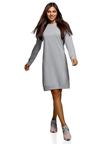 oodji Ultra Mujer Vestido Básico de Estilo Deportivo