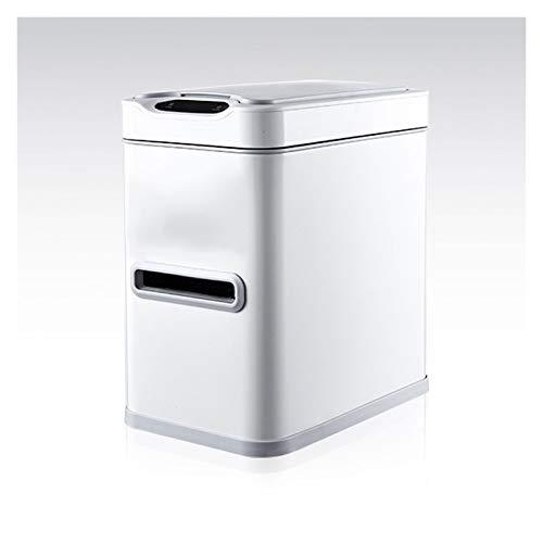 Xu Yuan Jia-Shop Contenedor de residuos Basura de inducción Inteligente para el hogar con Tapa 7l Baño de baños con Cepillo de Inodoro y Caja de Tejido Basura automática de Acero Inoxidable Papelera