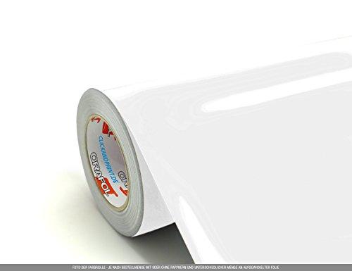 CLICKANDPRINT 4m Klebefolie, 63cm breit, Weiss Glanz » Klebefolie/Stickerfolie/Selbstklebefolie