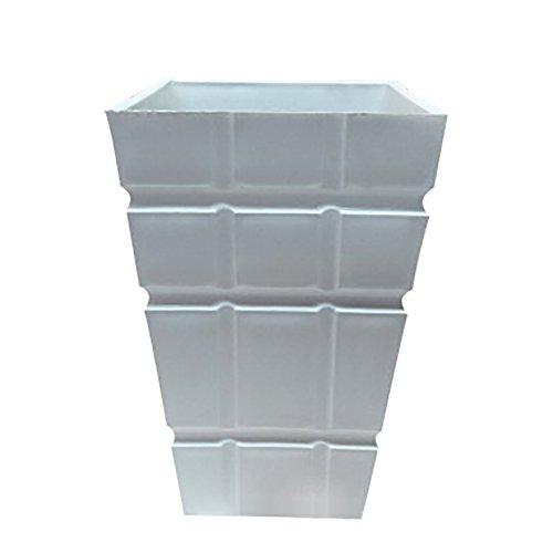 Gespout Vase en Plastique Décoration Blanc Design à Carreaux Mariage Banquet Fête Décor Accessoires de Composition Florale Ornements pour Maison Bureau Salon Jardin