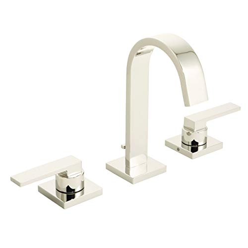 Speakman SB-2523-PN Polished Nickel Lura 8' Widespread Bathroom Faucet with Push-Pop Drain