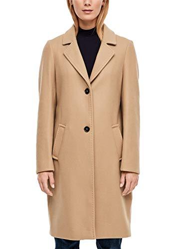 s.Oliver Damen Klassischer Mantel in Woll-Optik beige 46