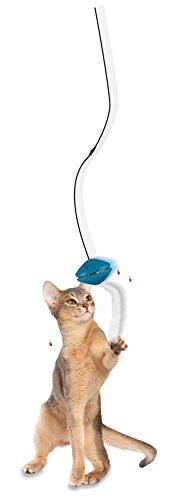 PetSafe Funkitty Katzenspielzeug Doorway Dangli, Snackball mit elastischem Band, Sicherheitsclip und Plüsch Applikation