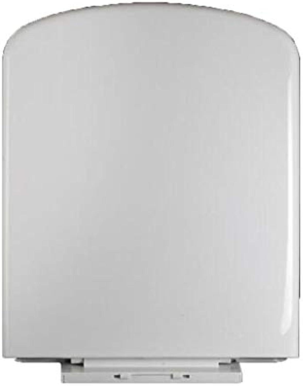 KTYXDE Quadratischer WC-Deckel mit langsamer Stummschaltung aus verdicktem Harz WC-Deckel Toilettendeckel