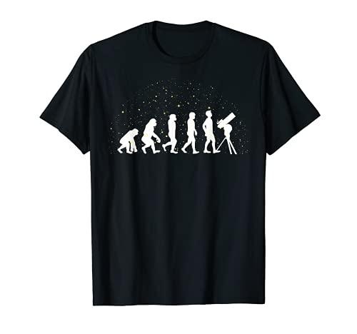 Cadeau d'évolution d'astronome d'étoile de télescope T-Shirt