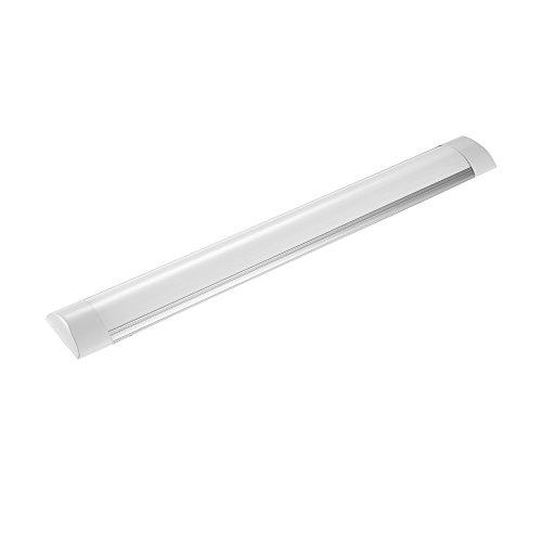 LED Unterbauleuchte 20W/60cm | Neutralweiß 4000K | 2400Lumen | LED Leuchtröhre | Superhelle Lichtleiste | Deckenleuchte | LED Leiste für Büro Garage Keller Küche |