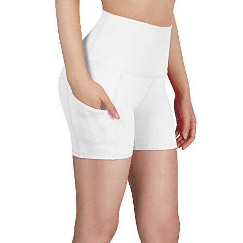 High Waist Out Pocket Yoga Short Tummy Control Workout Running Athletic Non See-Through Yoga Shorts -$21.98(50% Off)