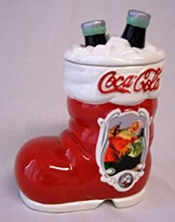 75th Anniversary Coca Cola Santa's Boot Cookie Jar