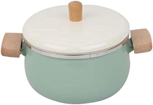 Zcm Bac à Lait Pot de Lait en Porcelaine émaillée Hot Marmites Pot Soupe antiadhésifs Pot avec Couvercle Poêle Cuisinière à gaz Batterie de Cuisine (Color : Yellow) Yellow