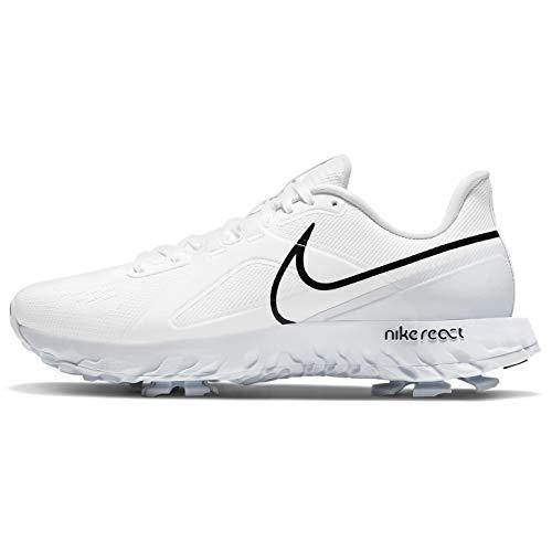 Nike React Infinity Pro, Zapatillas de Golf Unisex Adulto, White Black Mtlc Platinum, 40 EU