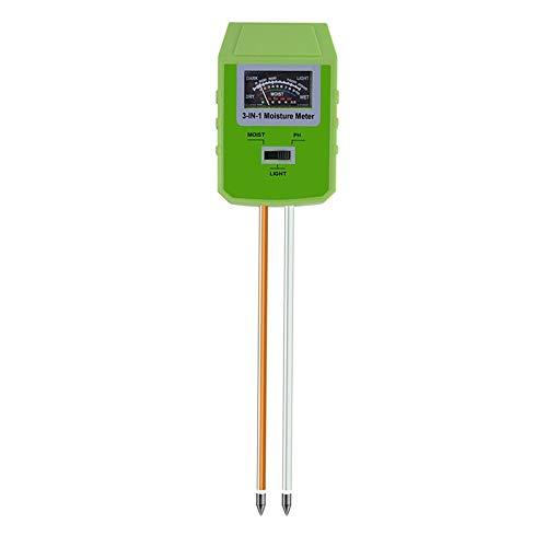 Probadores de la tierra Herramienta del suelo del medidor de pH 3-en-1 pH de humedad del suelo Luz Contador de prueba kits de prueba de agua, de plantas al aire libre de interior Mejorada sensor más g