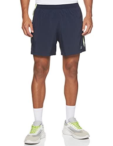 New Balance Pantalón corto para hombre. Bleached Lime Glo L