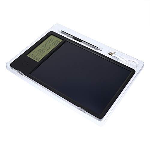 NUOBESTY 10 Pulgadas LCD Tablet Pantalla de Escritura Electrónico Doodle Pads con Reloj Calendario Temperatura Humedad LED Tablero de Dibujo Almohadilla de Escritura Regalo para