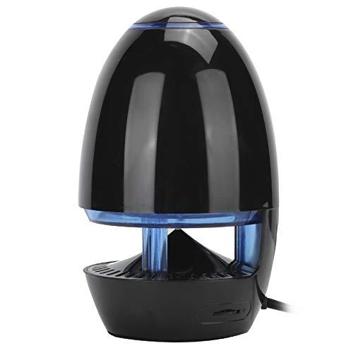 Mini altoparlante wireless a LED, cassa acustica Bluetooth portatile con riduzione del rumore integrata, lettore musicale subwoofer portatile audio USB da 4,5 W, cassa di risonanza stereo(Nero)