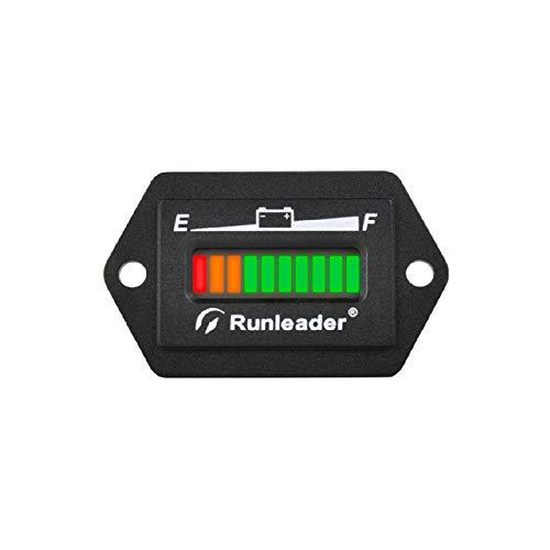 Runleader 12V 24V 36V 48V Indicador LED de batería, medidor de Capacidad de batería, Monitor de Carga y Descarga de batería para Carro de Golf Vehículo eléctrico Vehículo Estrella 商品名称 (48V)